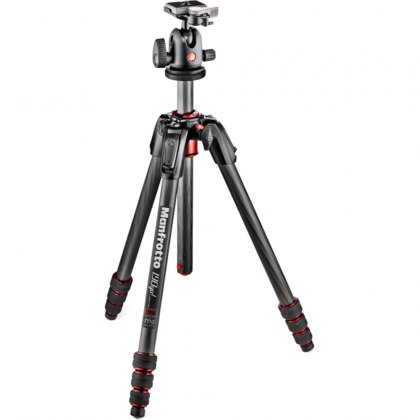 Manfrotto 190 Go! Carbon 4-Section Tripod with ball head