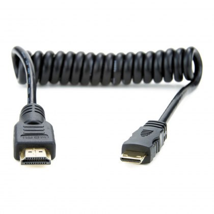 Atomos Coiled mini HDMI to full HDMI cable (30-45cm)