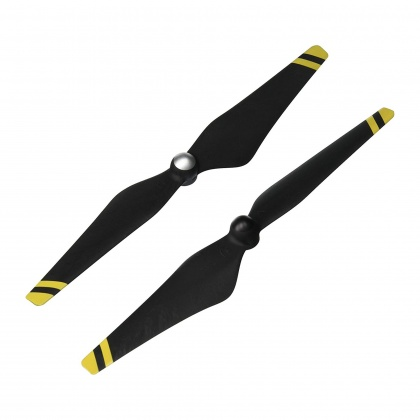 DJI Phantom 3 Propellers Carbon Fibre with Yellow Strips