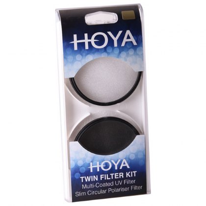 Hoya 55mm UV Filter & Circular Polariser Twin Kit