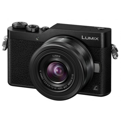 Panasonic Lumix DC-GX800 Mirrorless Camera, Black with 12-32mm Lens
