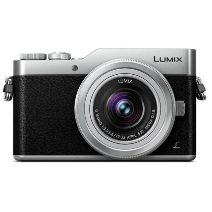 Panasonic Lumix DC-GX800 Mirrorless Camera, Silver with 12-32mm Lens