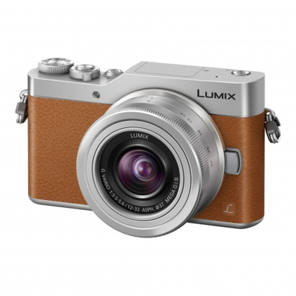 Panasonic Lumix DC-GX800 Mirrorless Camera, Brown with 12-32mm Lens