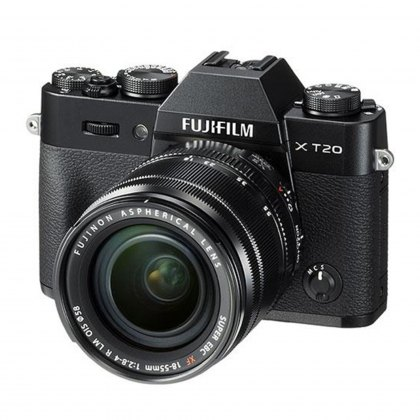 Fujifilm X-T20 with XF 18-55 Lens, Black