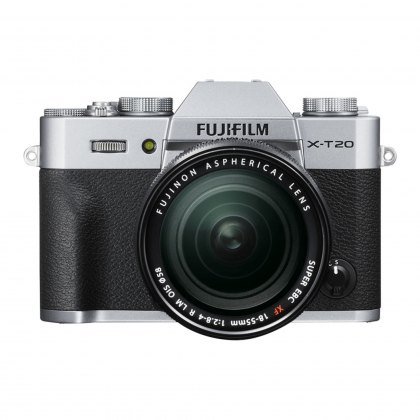 Fujifilm X-T20 with XF 18-55 Lens, Silver