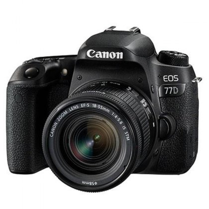 Canon EOS 77D, 18-55mm F4-5.6 IS STM