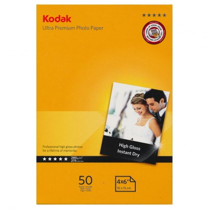 Kodak Gloss Ultra Premium Paper,4x6in, 50 sheets
