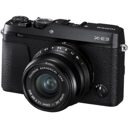 Fujifilm X-E3 with XF 23mm F2 lens, Black