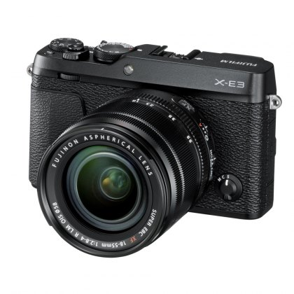 Fujifilm X-E3 with XF 18-55 lens, Black