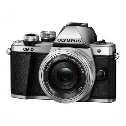 Olympus OM-D E-M10 Mark II Camera with 14-42mm EZ Lens, silver