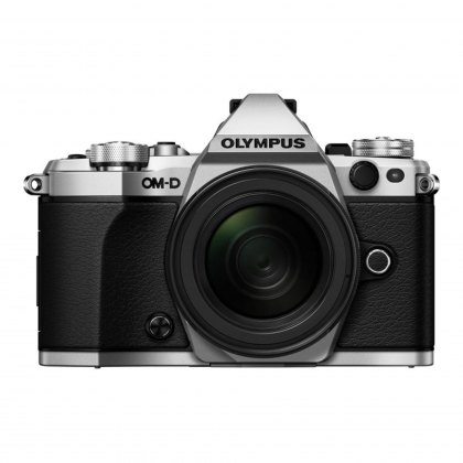 Olympus OM-D E-M5 Mark II Silver Camera with Black 12-40mm Pro Lens