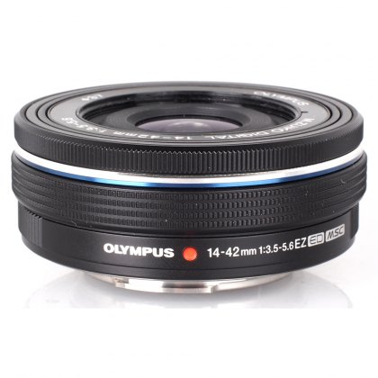 Olympus M.ZUIKO DIGITAL 14-42mm f3.5-5.6 EZ Lens, black