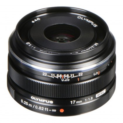 Olympus M.ZUIKO DIGITAL 17mm f1.8 Lens, black