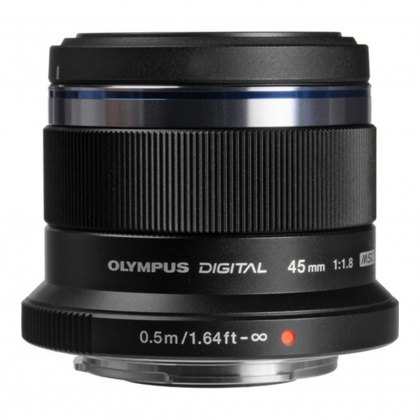 Olympus M.ZUIKO DIGITAL 45mm f1.8 Lens, black