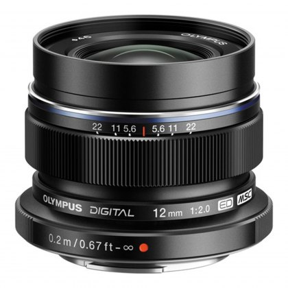 Olympus M.ZUIKO DIGITAL ED 12mm f2.0 Lens, black