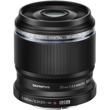Olympus M.ZUIKO DIGITAL ED 30mm f3.5 Macro Lens, black