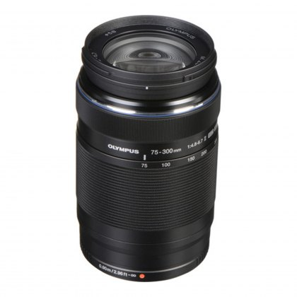 Olympus M.ZUIKO DIGITAL ED 75-300mm f4.8-6.7 II Lens, black