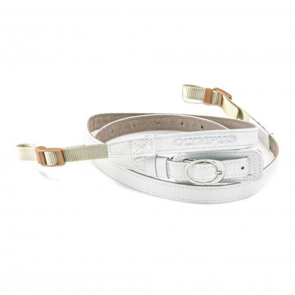 Olympus CSS-S109LL Leather Shoulder Strap, White