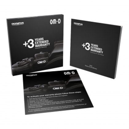 Olympus Three Years Extended Warranty Card - OM-D