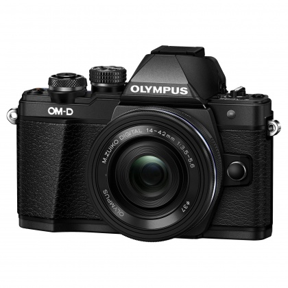 Olympus OM-D E-M10 Mark III Mirrorless Camera with 14-42mm EZ Lens, black