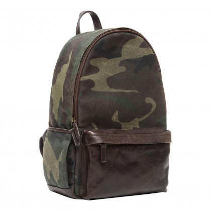 Ona Clifton Backpack - Camouflage Waxed Canvas