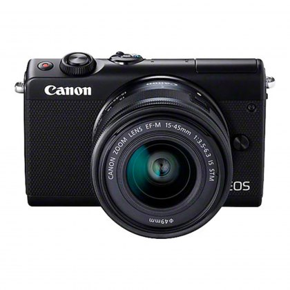 Canon EOS M100 15-45mm and 22mm, black