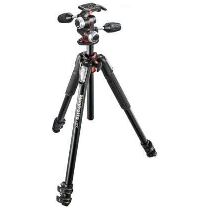 Manfrotto MK055XPRO3-3W 3 Section Aluminium Tripod with MHXPRO-3W 3-Way Head