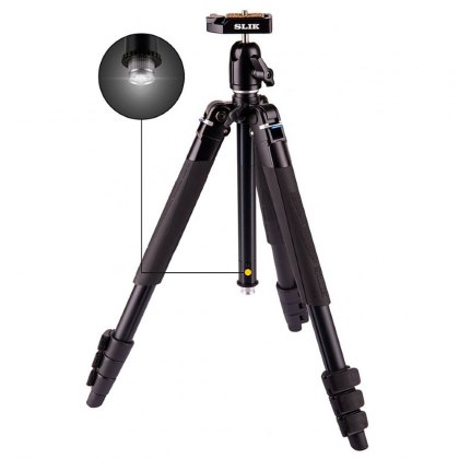 Slik Lite AL-420M Tripod with SBH-100DQA Ball head