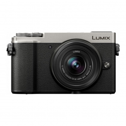 Panasonic Lumix DC-GX9 Mirrorless Camera, silver with 12-32 F2.8 ASPH P OIS lens
