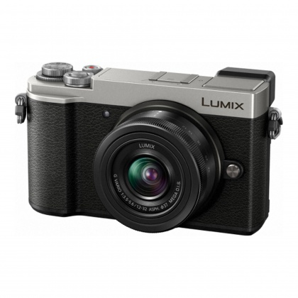 Panasonic Lumix DC-GX9 Mirrorless Camera, silver with 12-32 F3.5-5.6 ASPH P OIS lens