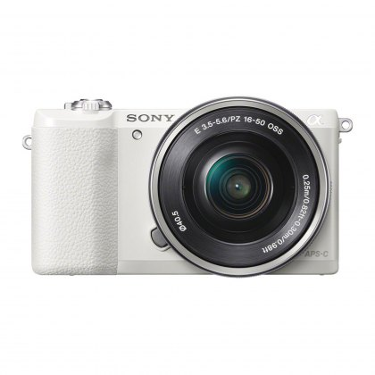 Sony Alpha 5100 Mirrorless Camera, White with 16-50 lens
