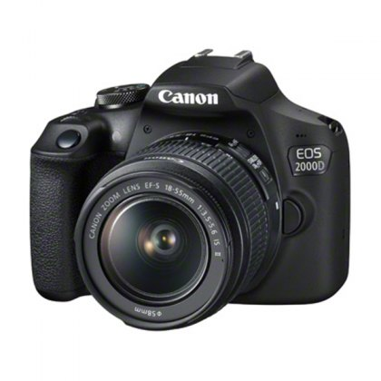 Canon EOS 2000D DSLR Camera with 18-55mm IS II Lens