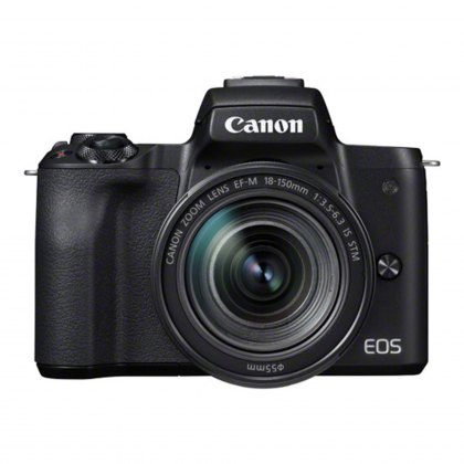 Canon EOS M50 Camera with 18-150mm lens, Black