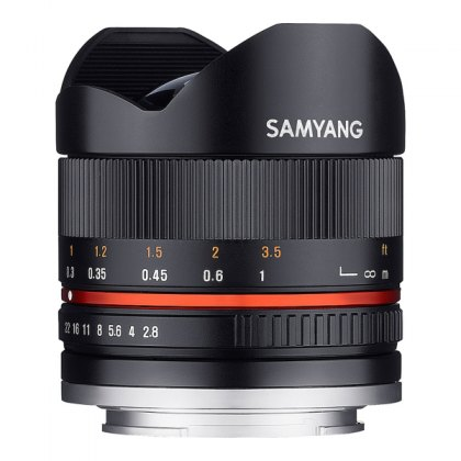 Samyang 8mm F2.8 II Fisheye lens for Sony E mount, Black