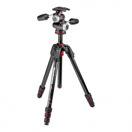 Manfrotto 190go! Carbon 4-Section M-Lock Tripod with MHXPRO 3-Way Head