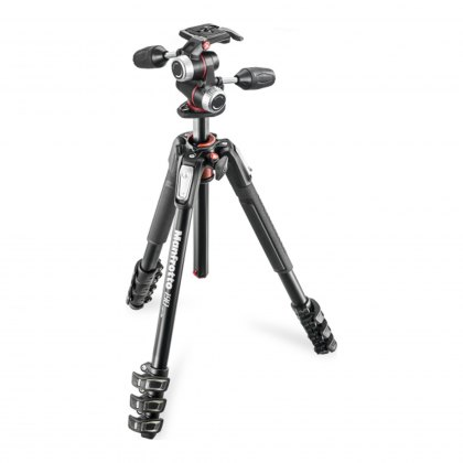 Manfrotto 190 Aluminum 4-Section Tripod with MHXPRO 3-Way Head