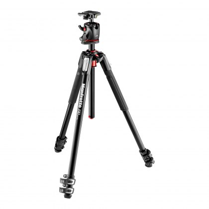 Manfrotto 190 Aluminum 3-Section Tripod with BHQ2 Ball Head