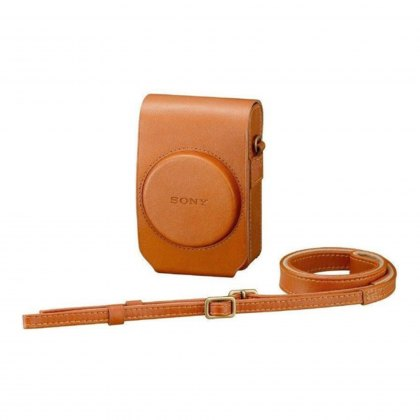Sony LCS-RXG Soft Tan Leather Case for RX100 series cameras