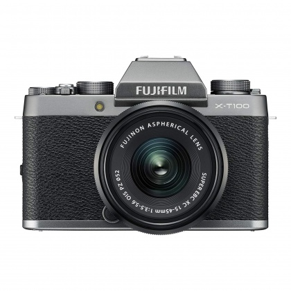 Fujifilm X-T100 Dark Silver with Black XC 15-45mm and 50-230mk II lenses