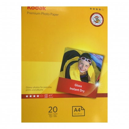 Kodak Premium Photo Paper A4 Glossy Photo Paper 240gsm, 20 sheets