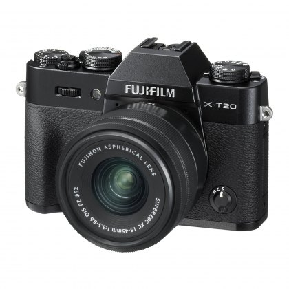 Fujifilm X-T20 with XC15-45mm lens, Black