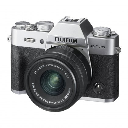 Fujifilm X-T20 with XC15-45mm lens, Silver