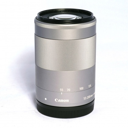 Used Canon EF-M 55-200mm f4.5-6.3 IS STM, silver