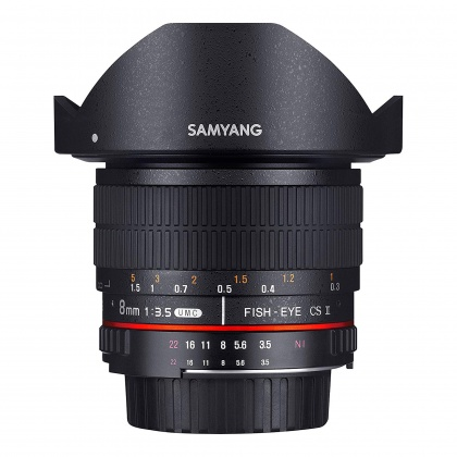 Samyang 8mm F3.5 CSII Fisheye lens for Sony E
