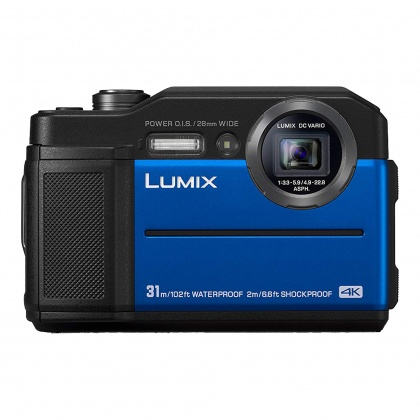 Panasonic Lumix FT7 Tough Digital Camera, Blue