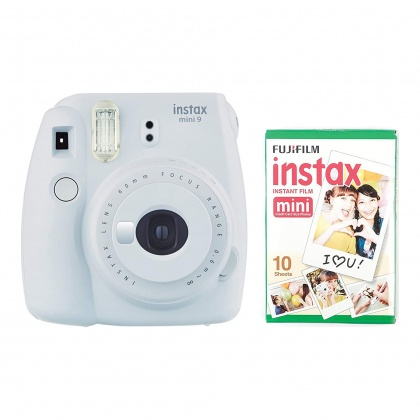 Fujifilm Instax Mini 9 Smokey White Plus 10 Shots