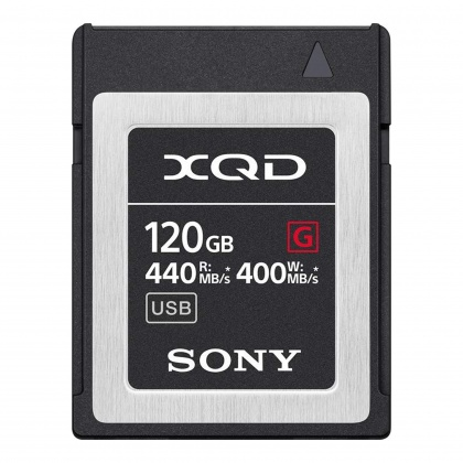 Sony XQD G-Pro card, 120gb - Read 440MB/s, Write 400MB/s