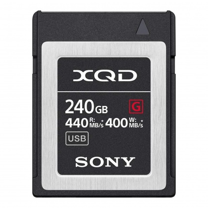 Sony XQD G-Pro card, 240gb - Read 440MB/s, Write 400MB/s