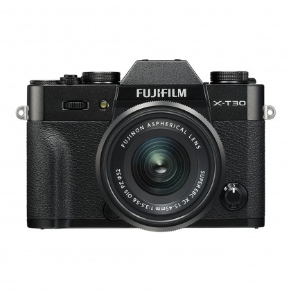 Fujifilm X-T30 with XC15-45mm lens, Black