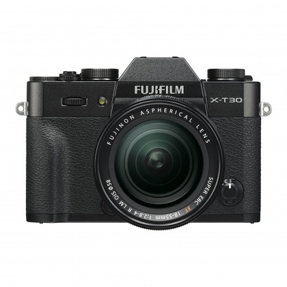 Fujifilm X-T30 with XF 18-55 lens, Black
